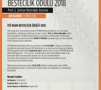 İtü Miam Bestecilik Ödülü 2018