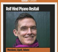Rolf Hind Piyano Resitali 3 Mart 2018