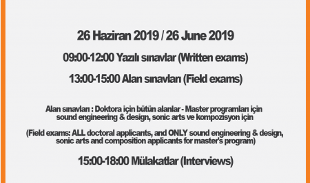 2019 Graduate Admissions  Exams and Interview Schedule