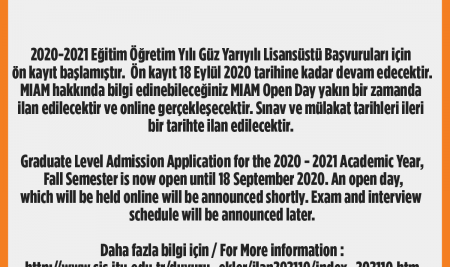 Graduate Level Admission Application for the 2020 – 2021 Academic Year