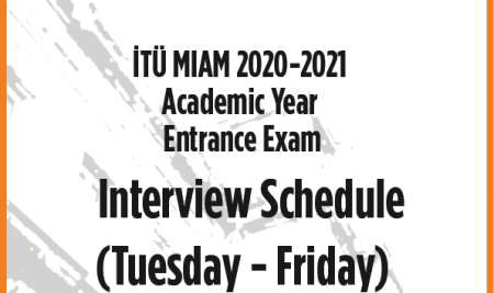 Interview Schedule for Tuesday – Friday