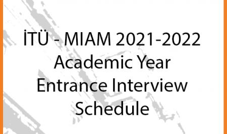 Entrance Exam Interview Schedule